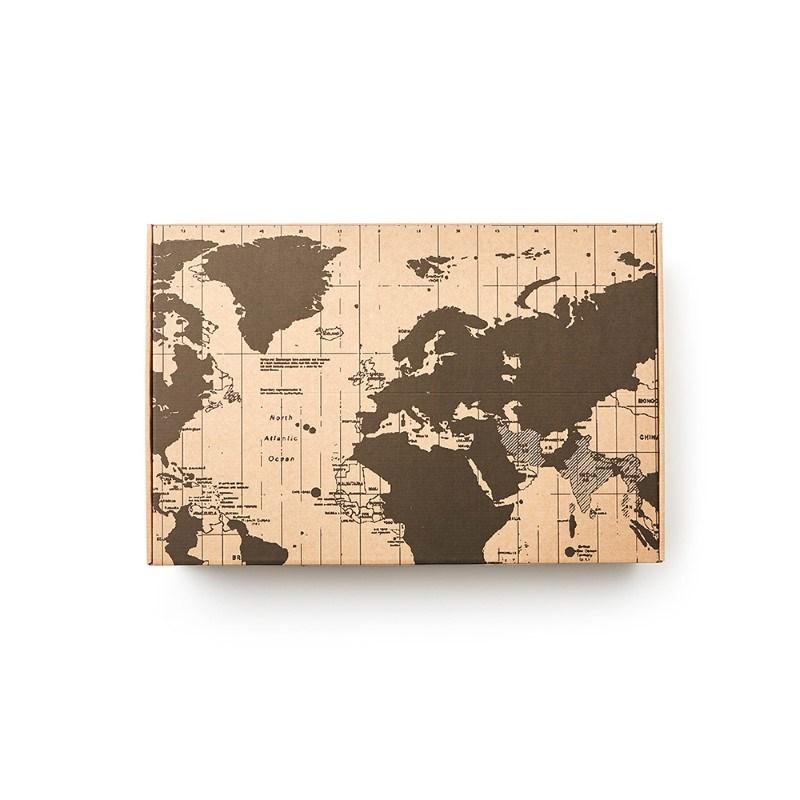 Geschenkverpakking Map, bruin .