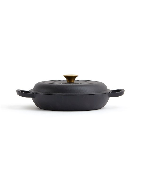 Monte Braad- of stoofpan, zwart .