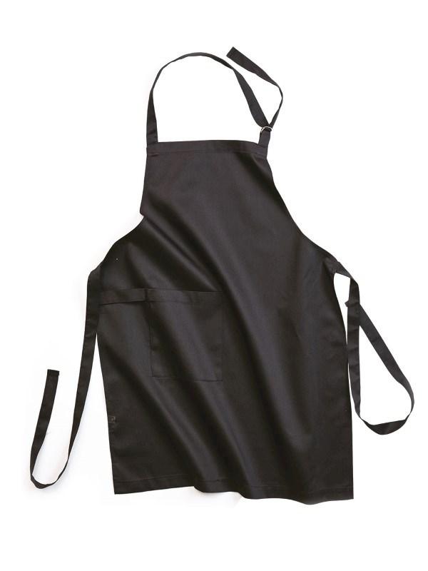 Keukenschort, zwart .