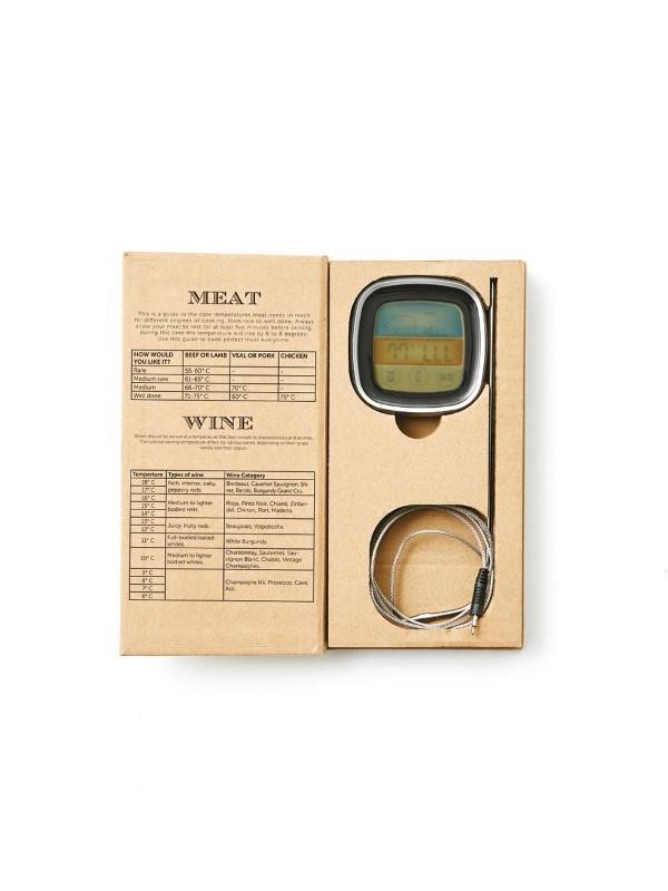 Keukenthermometer, zilverkleur .