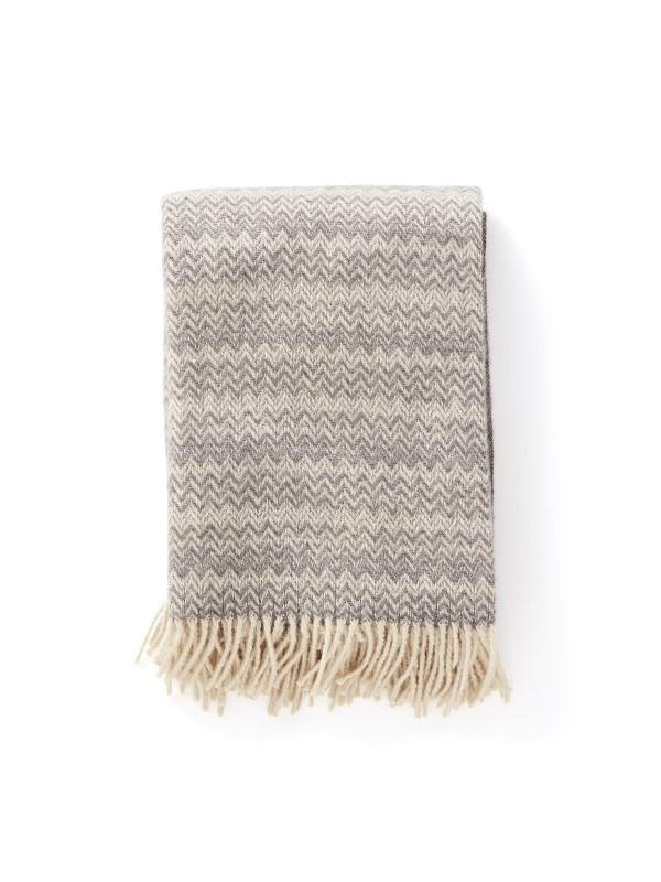 Loro Wollen deken, grijs .