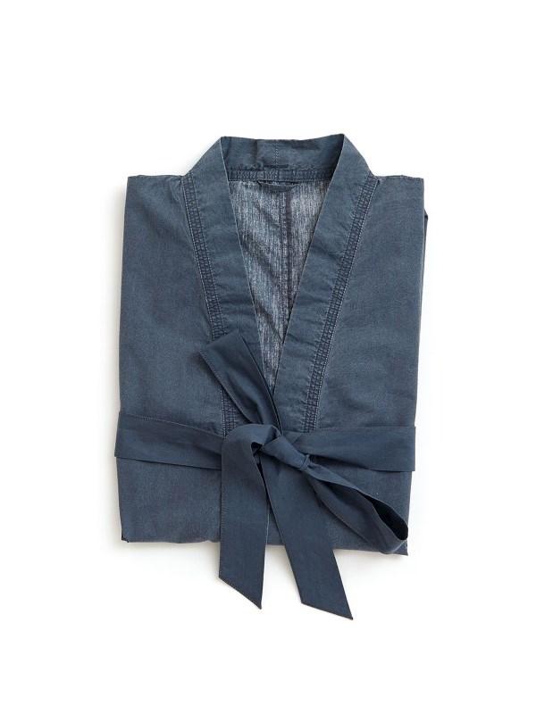 Milbrook badjas, donkerblauw .