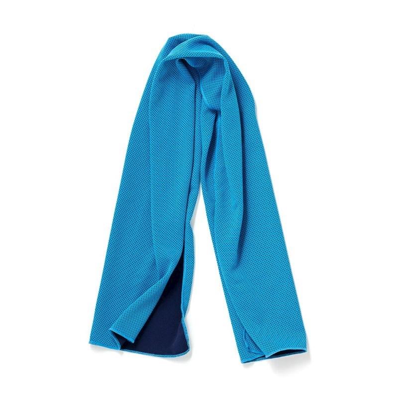 Koele Sporthanddoek, middenblauw .
