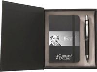 Charles Dickens schrijfset, boekje met balpen