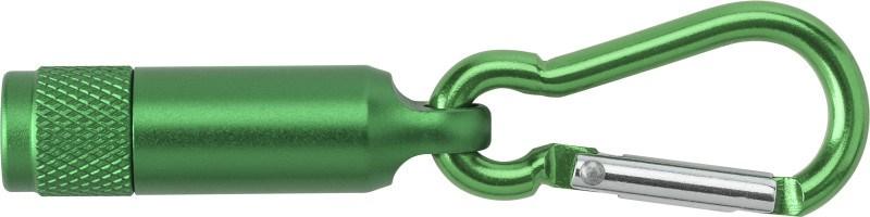 Aluminium mini-zaklamp met karabijnhaak