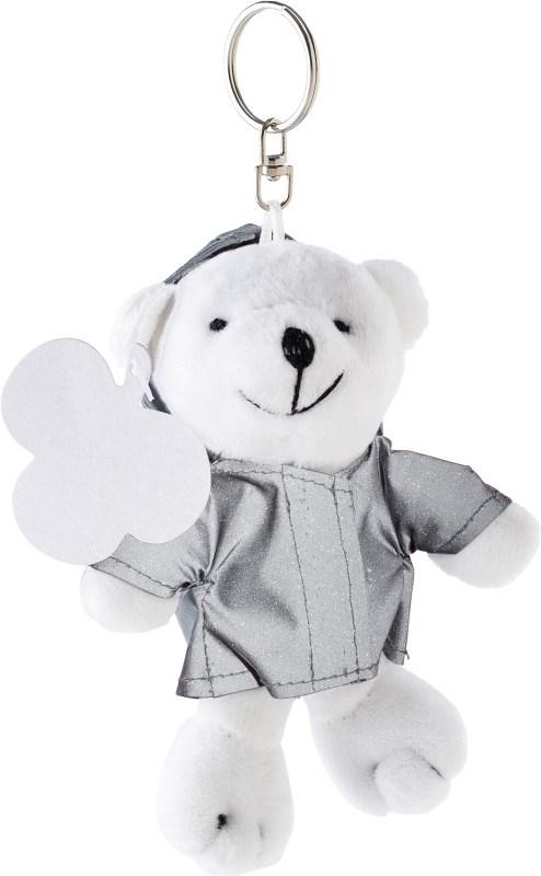 Pluche beer met reflecterend jasje.