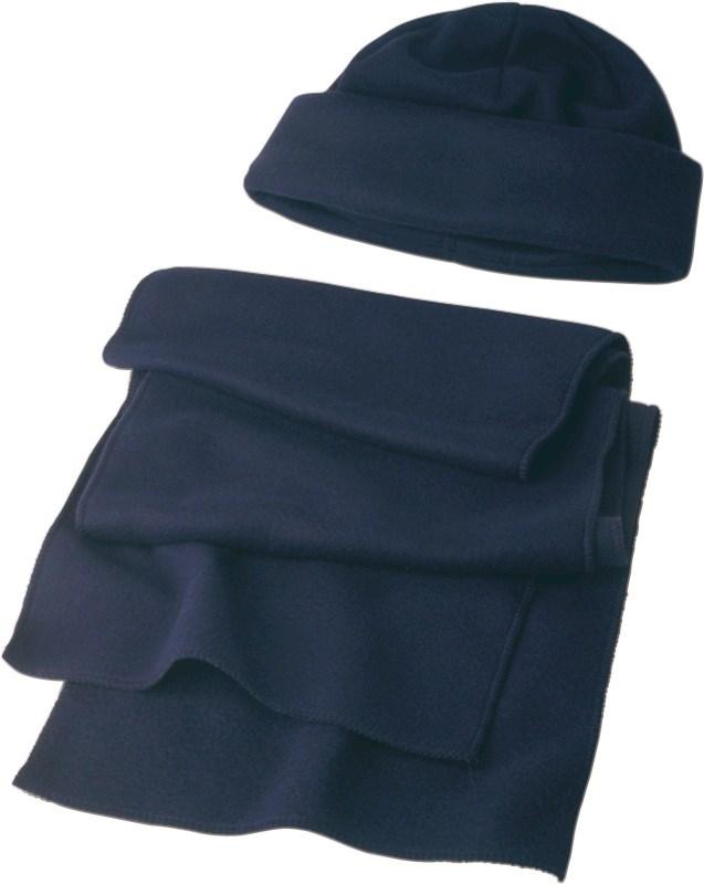 Polyester fleece (200 gr/m²) muts en sjaal