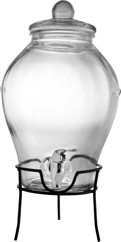 Glazen drankdispenser met onderzetter