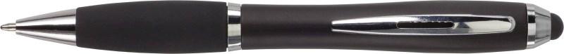 Balpen met zwarte rubberen grip