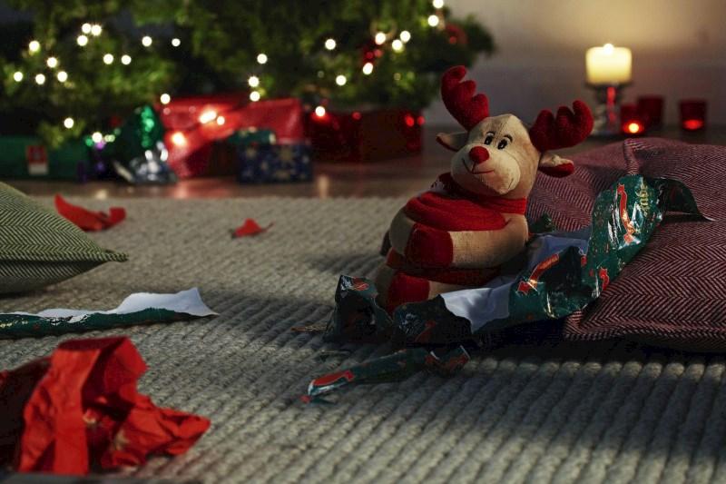 Kerstknuffel met deken