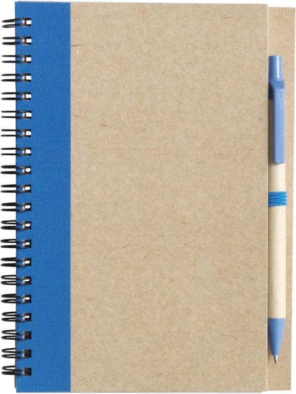 Draadgebonden notitieboekje met balpen
