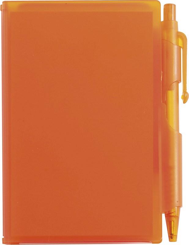 ABS notitieboekje met pen