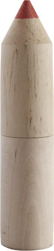Kleurpotloden in houten houder in vorm van potlood