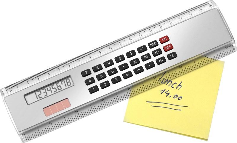 ABS liniaal met rekenmachine