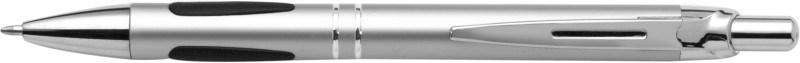 Balpen metallic met metalen tip, top & clip.