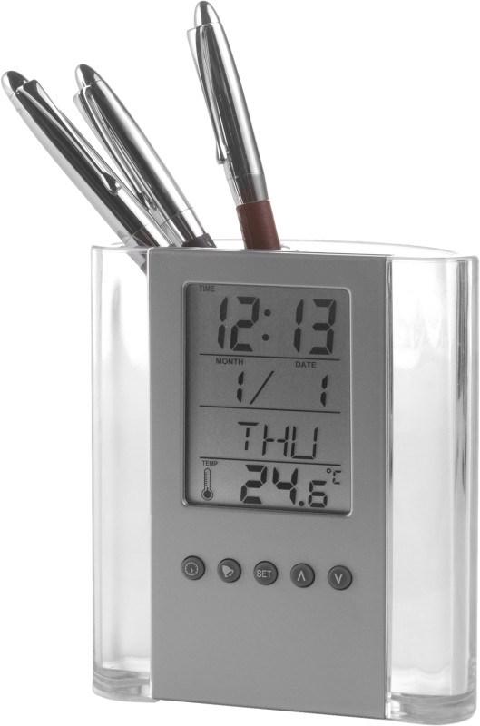 ABS pennenhouder met klok