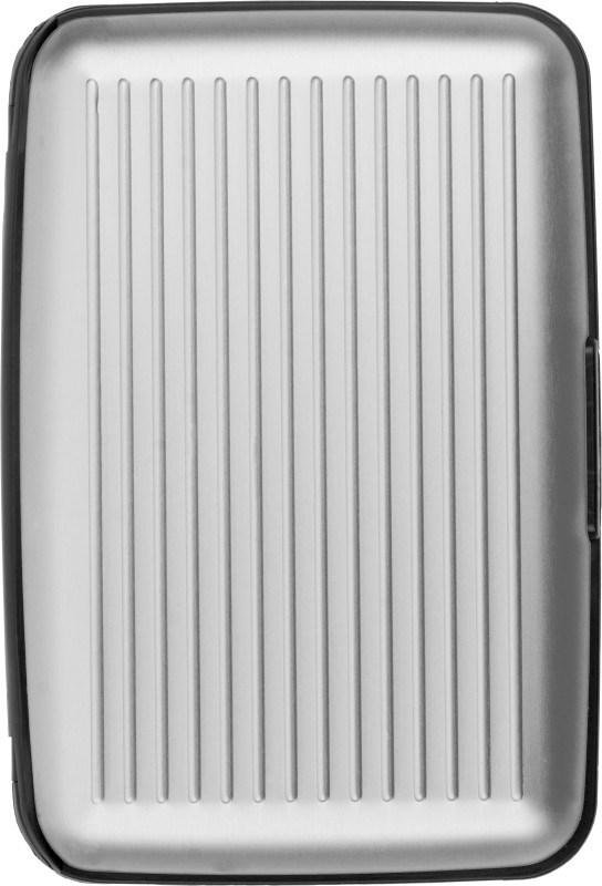 Aluminium creditcardhouder met kunststof zijkanten
