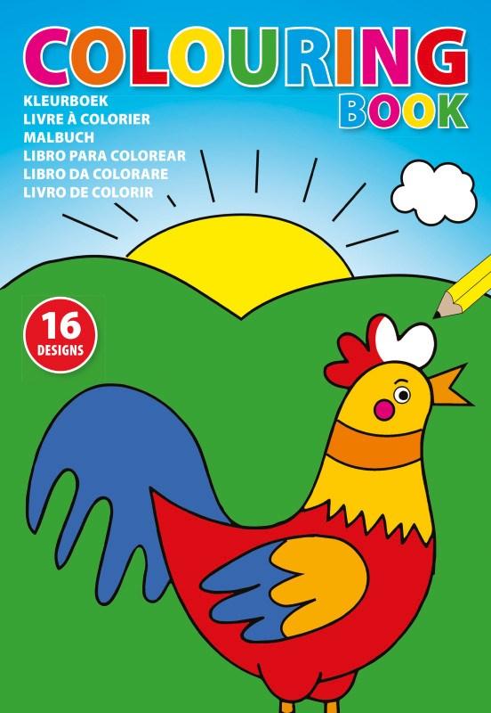 Kartonnen kleurboek