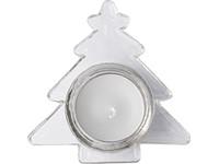 Kerstboomvormige waxinelichthouder met witte kaars
