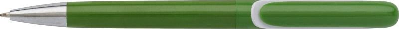 Kunststof (draai)balpen met geïntegreerde clip
