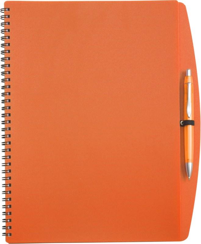 Notitieboekje (A4), incl. plastic balpen.