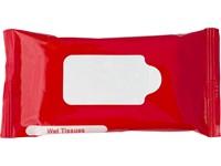 Kunststof pakje met vochtige doekjes