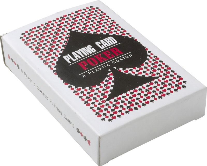 Kartonnen box met speelkaarten