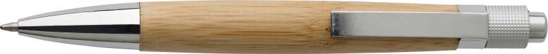 Bamboe balpen met metalen clip