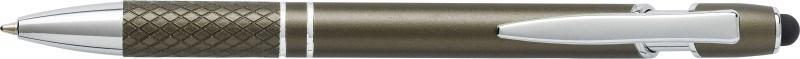 Aluminium balpen met stylus.