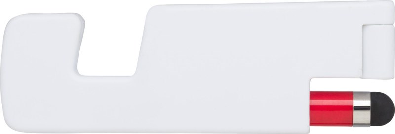 Kunststof opvouwbare telefoonhouder met stylus