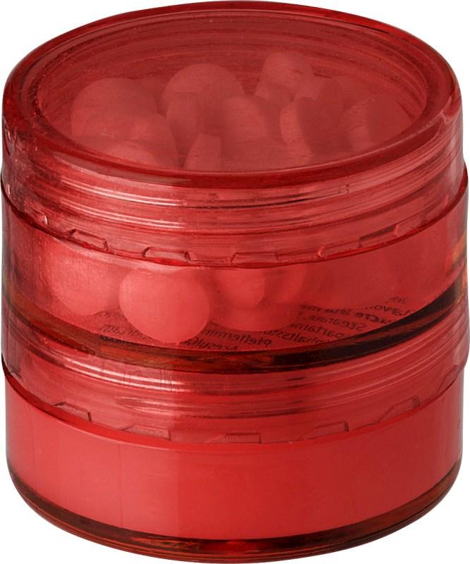 PS container met mintjes en lippenbalsem