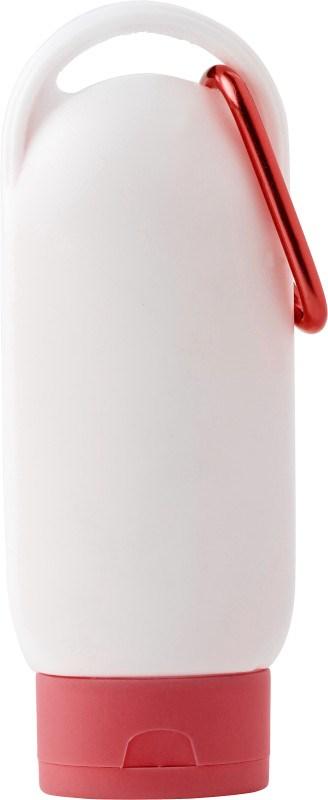 PE fles met zonnebrandcrème