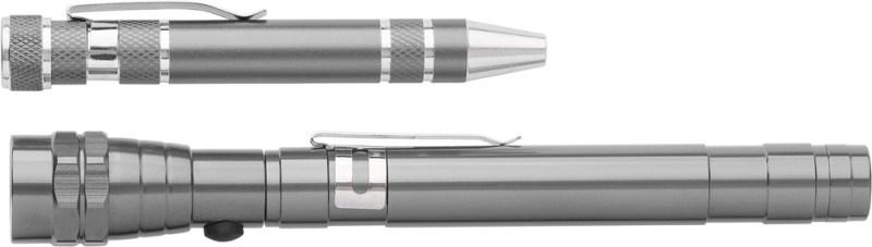 Aluminium 2-in-1 zaklamp