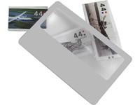 Ultra dun plastic vergrootglas, model 'creditcard'.