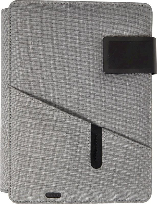 Schrijfmap met powerbank en tablet houder