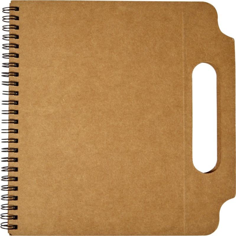 Kartonnen notitieboek (A5) met handgreep en ringband