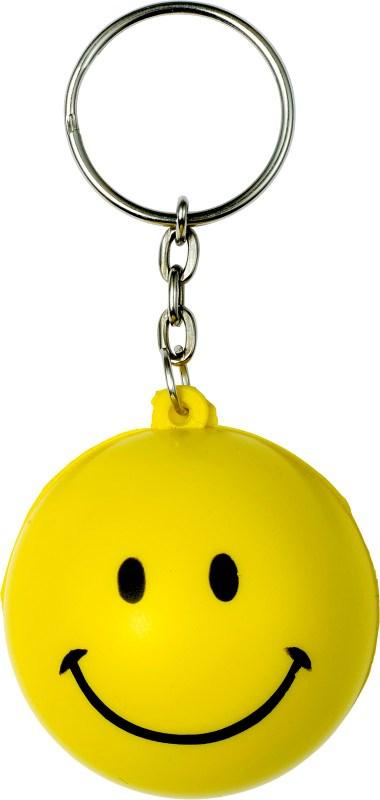 Sleutelhanger met anti-stress 'smiling face'