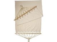 Polyester canvas hangmet met houten onderdelen