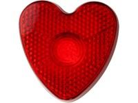 Plastic veiligheids lampje, model 'hart'.