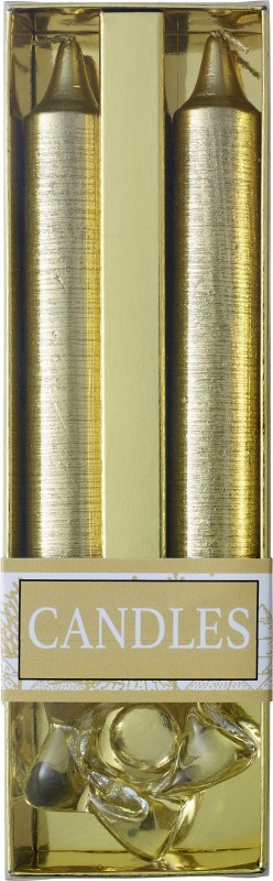 Twee glitterkaarsen met glazen houder