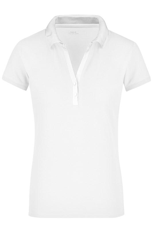 Ladies' Elastic Polo Short-Sleeved