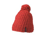 Unicoloured Crocheted Cap with Pompon