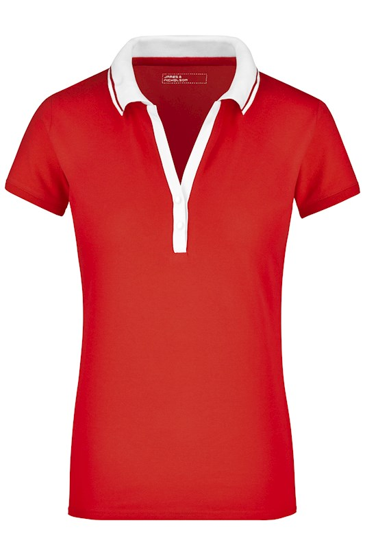 Ladies' Elastic Polo Short-Sleeved
