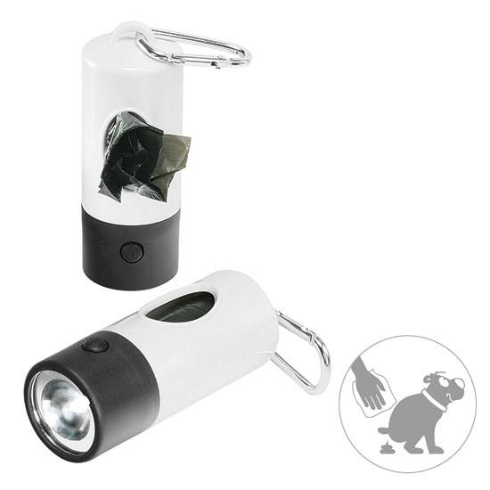 Zaklamp en dispenser, 1 LED (wit)