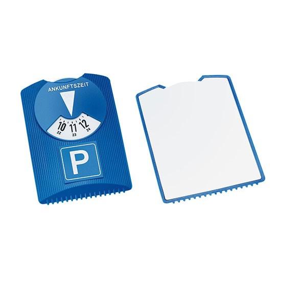 Design parkeerschijf met ijskrabber