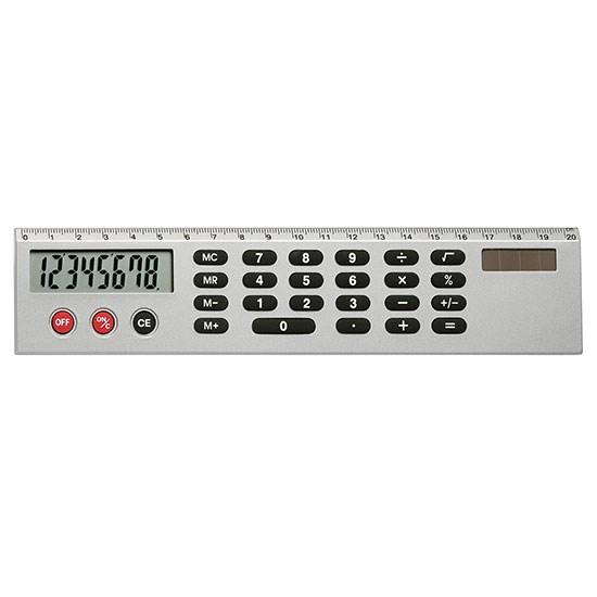 Liniaal met solar rekenmachine