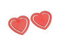 DRUK UITDRUKKEN Papierclip in hartvorm