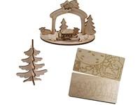 3D houten puzzle kaart kribbe