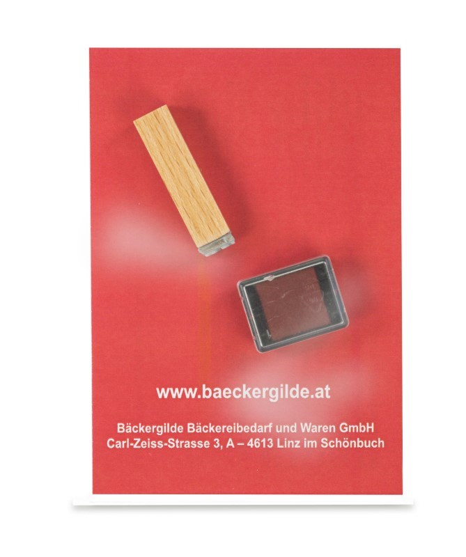 Mini stempelset - houten stempel Q10 met inktkussen