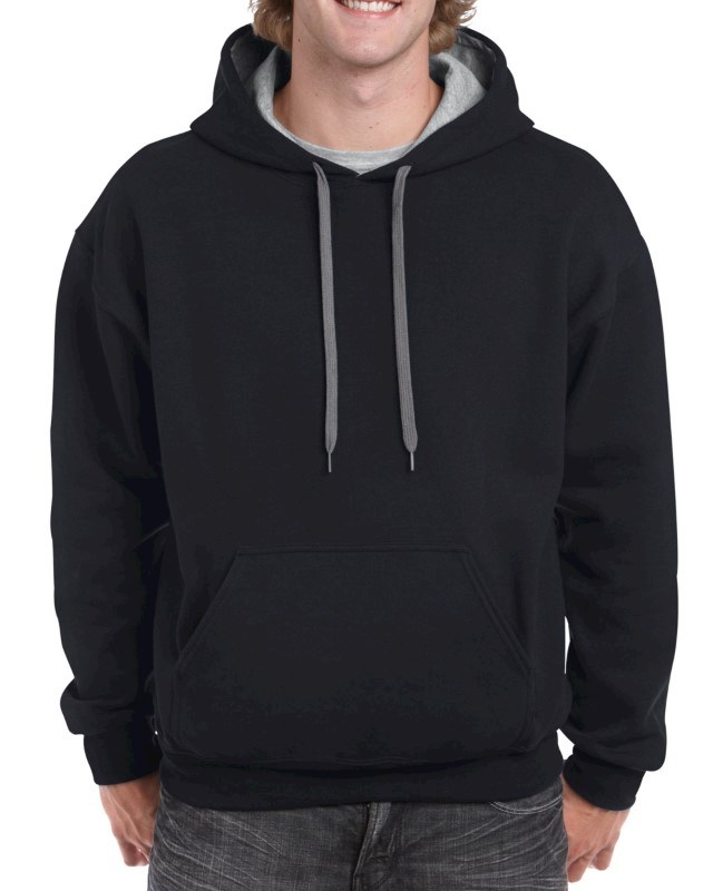Gildan Sweater Hooded Contrast HeavyBlend